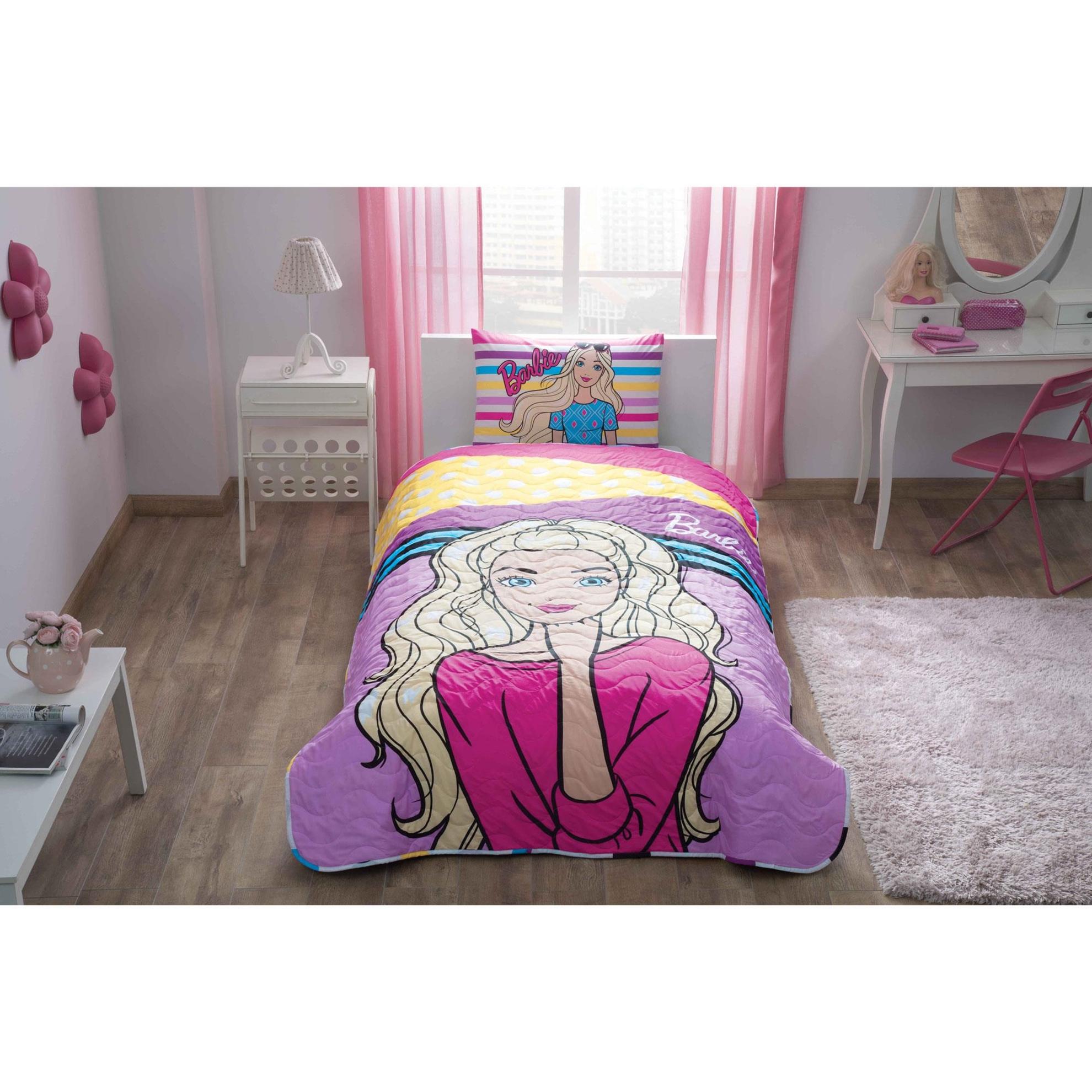resm  Barbie Dream Tek Kişilik Yatak Örtüsü