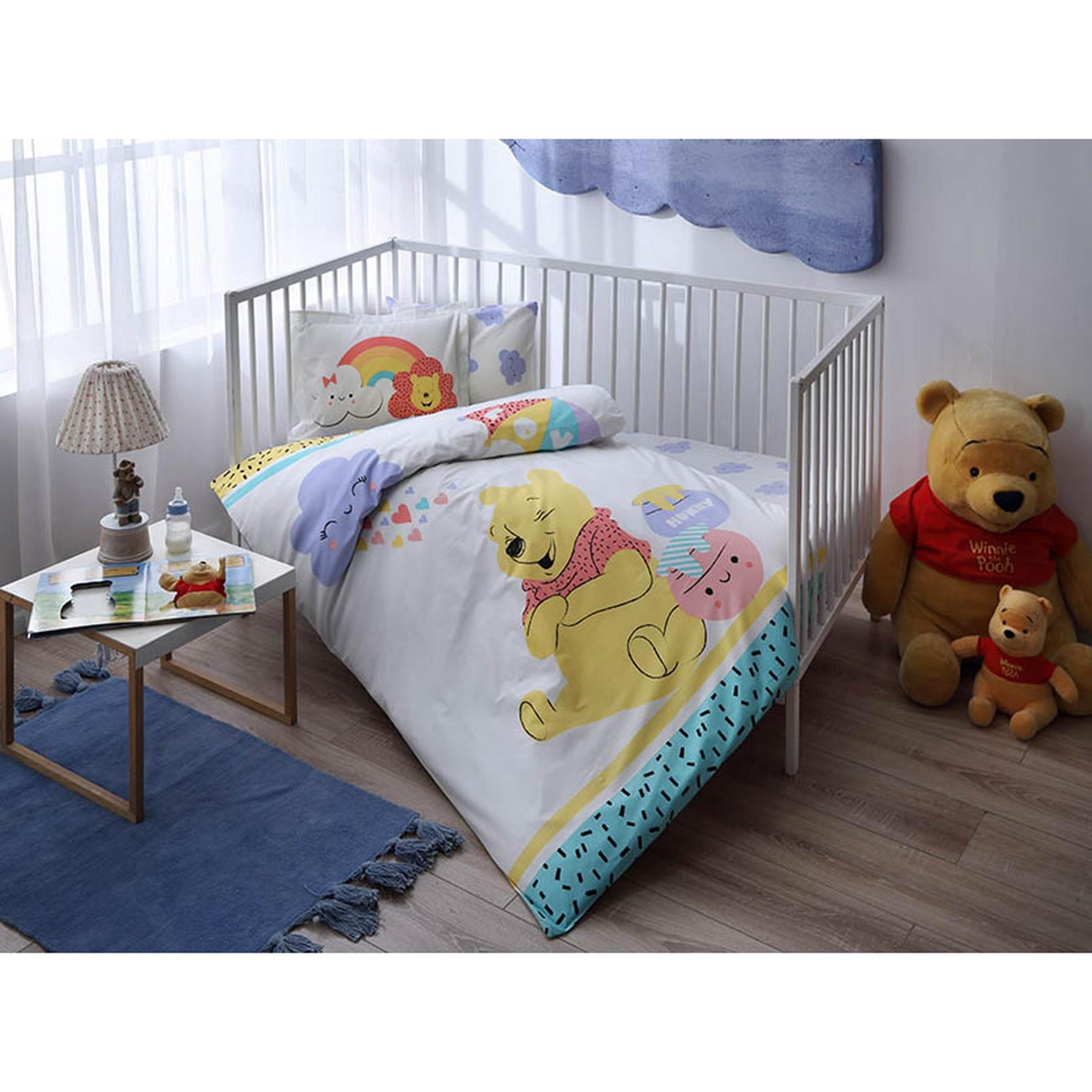 resm Taç Winnie The Pooh Hunny Baby Nevresim Takımı