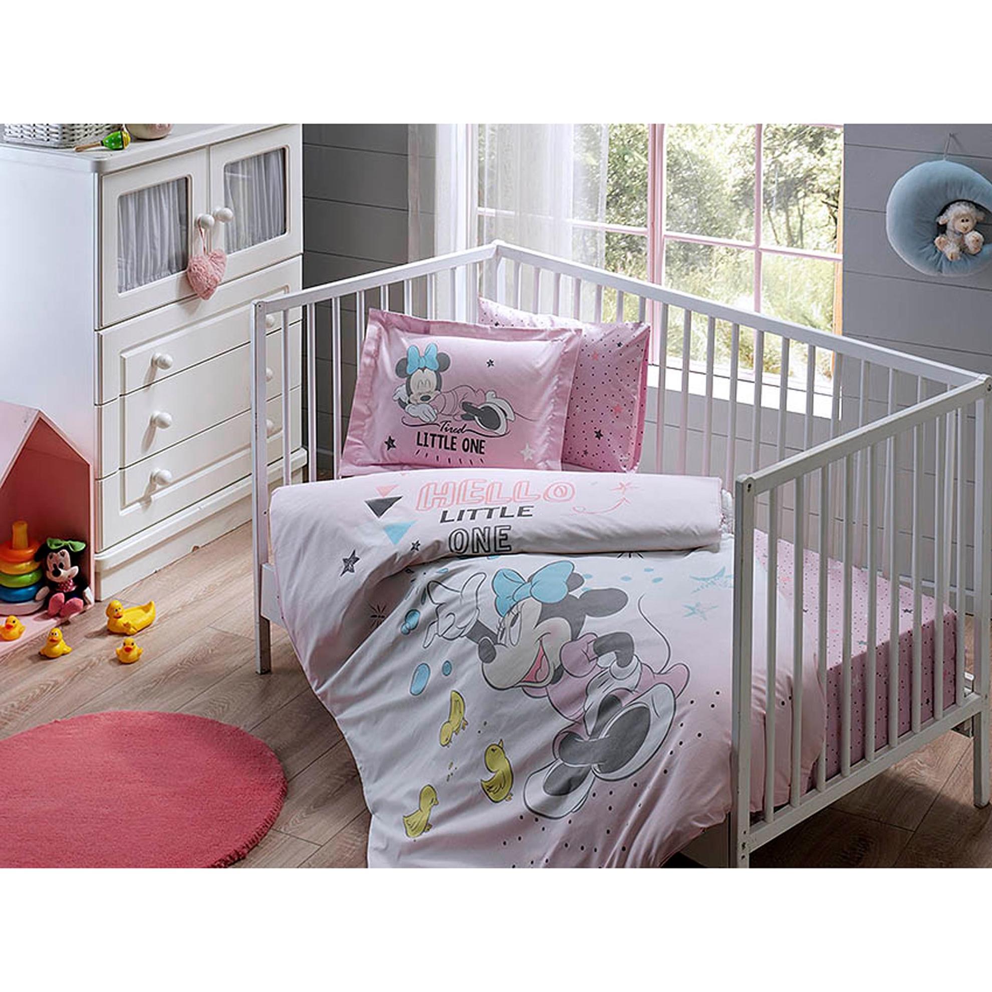resm Taç Disney Minnie Bubble Baby Nevresim Takımı