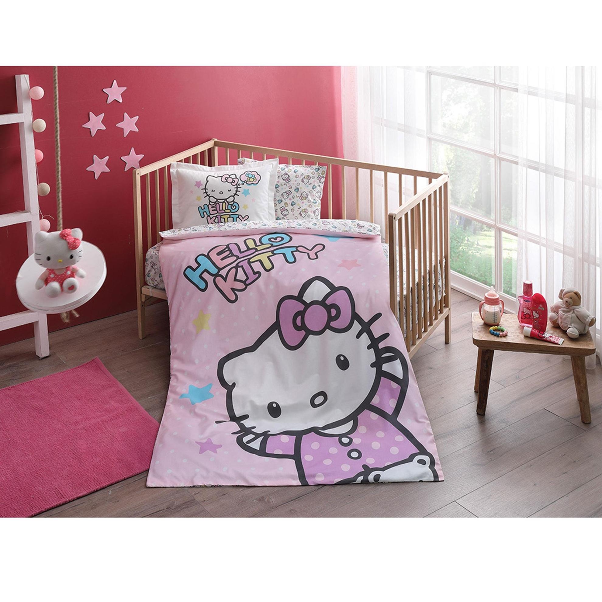 resm Taç Hello Kitty Baby Nevresim Takımı
