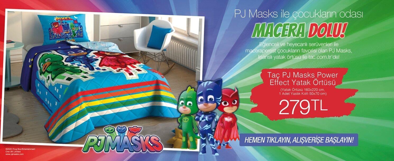 taç pj masks power effect yatak örtüsü 279 tl