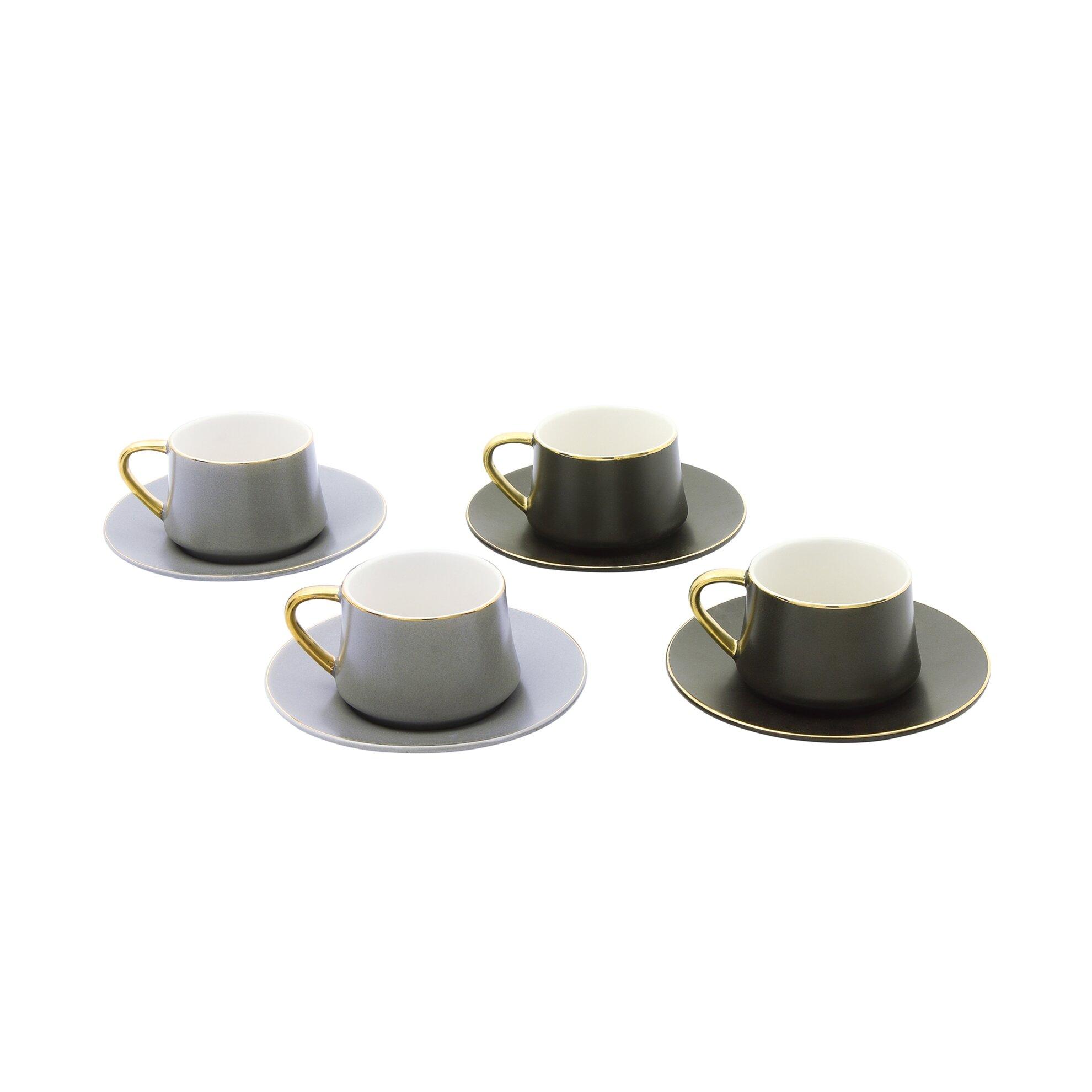 resm Pierre Cardin Juno Dark 4'lü Kahve Fincanı