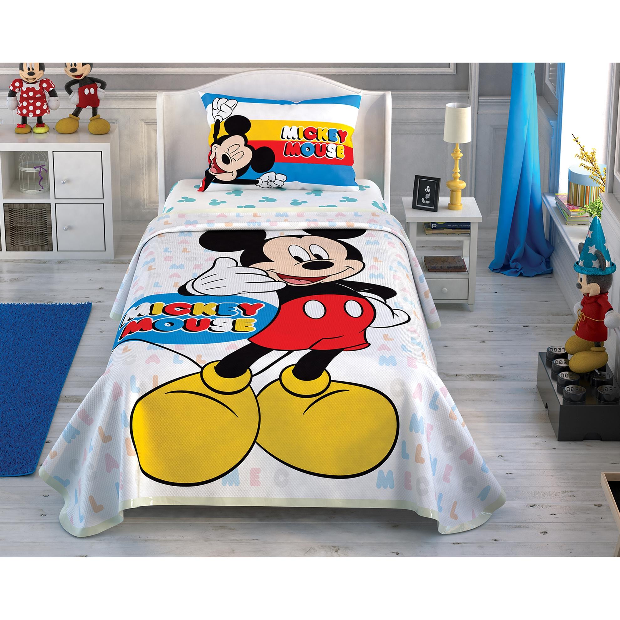 resm Taç Disney Mickey Call Me Tek Kişilik  Pike Takımı