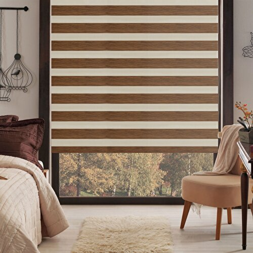 Resim Taç Inova Kendini Temizleyen Bambu Zebra Stor Perde / 303TL (m²)