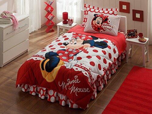Resim Taç Disney Minnie Mouse Tek Kişilik Uyku Seti
