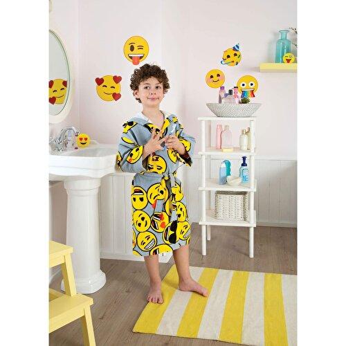 Resim Taç Emoji Çocuk Bornoz 8-10 Yaş