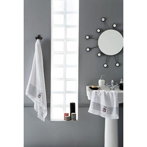 Resim Taç Beşiktaş Pamuk Banyo Havlusu Beyaz