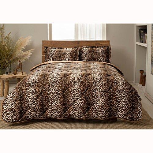 Resim Taç Leopard Tek Kişilik Yorgan Seti