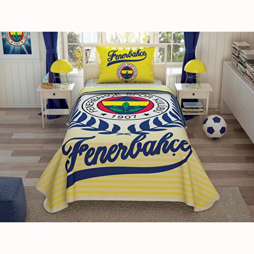 Resim Taç Fenerbahçe Yellow Tek Kişilik Pike Takımı