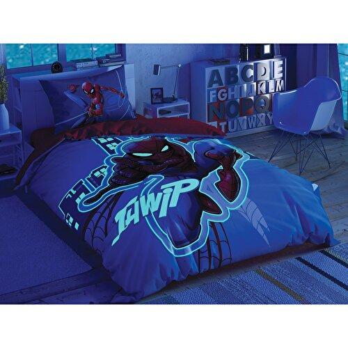 Resim Taç Spiderman Light City Glow Nevresim Takımı