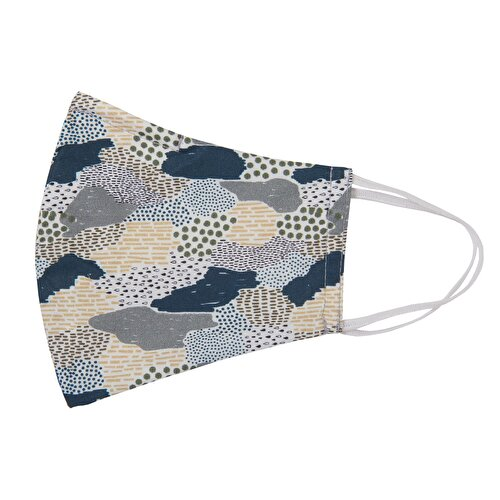 Resim Taç Pattern Maske