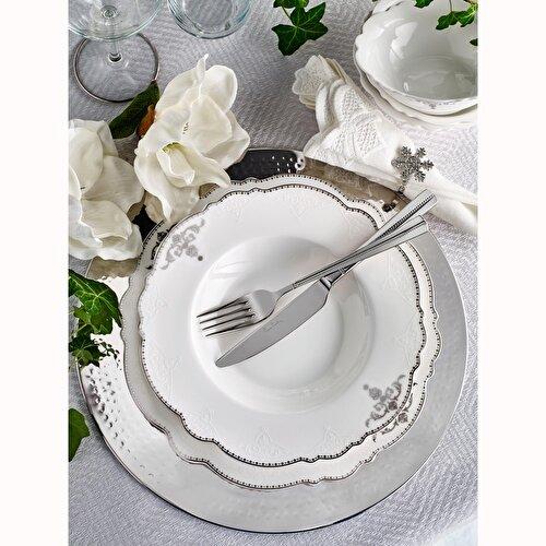 Resim Pierre Cardin Serena 12 Kişilik 60 Parça Bone China Yemek Takım