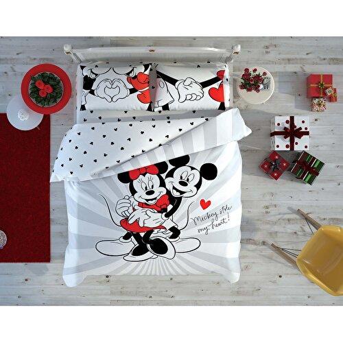 Resim Taç Disney Minnie&Mickey Love Day Çift Kişilik Nevresim Takımı