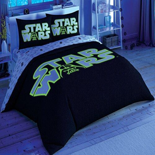 Resim Taç Star Wars Glow  Nevresim Takımı