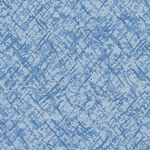 Resim Apron Tül Perde Mavi