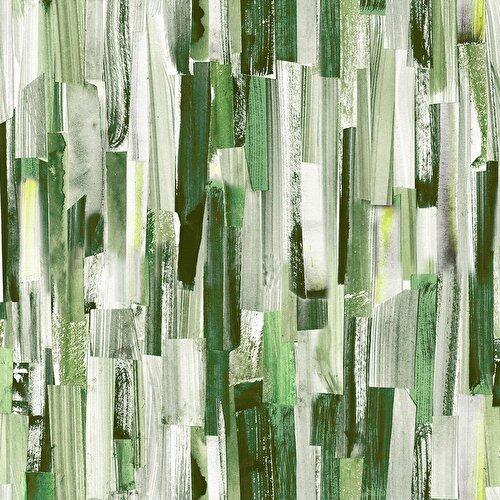 Resim Hiral Fon Perde Yeşil